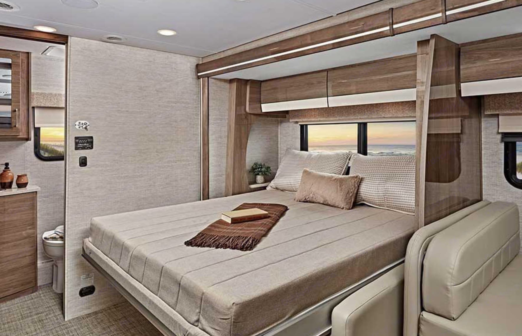 Murphy bed, Oh La La! Manufacturers photo, ours coming soon!  They look identical!. Entegra Coach Qwest 2021