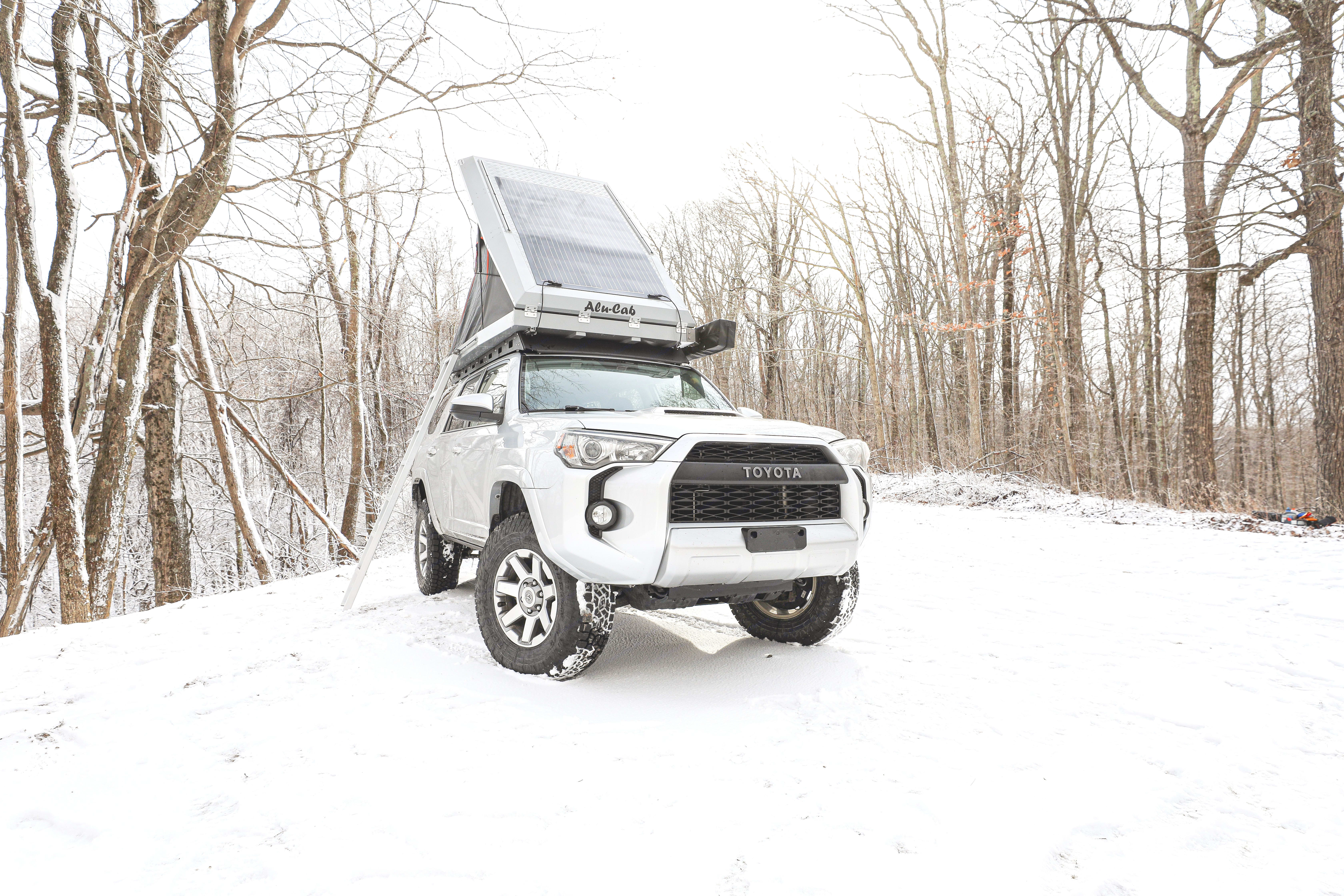 Solar on the roof of the tent ensures you'll be able to power your fridge, charge your devices and live off grid as long as you'd like.. Toyota 4Runner 2015