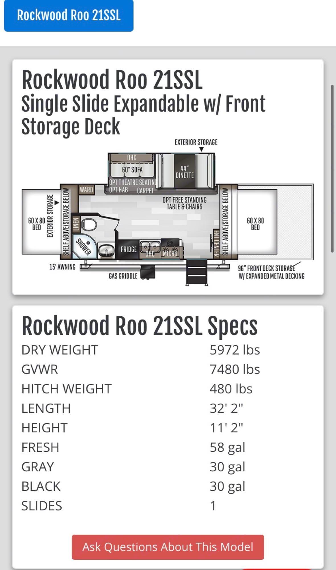 Forest River Rockwood Roo 2019