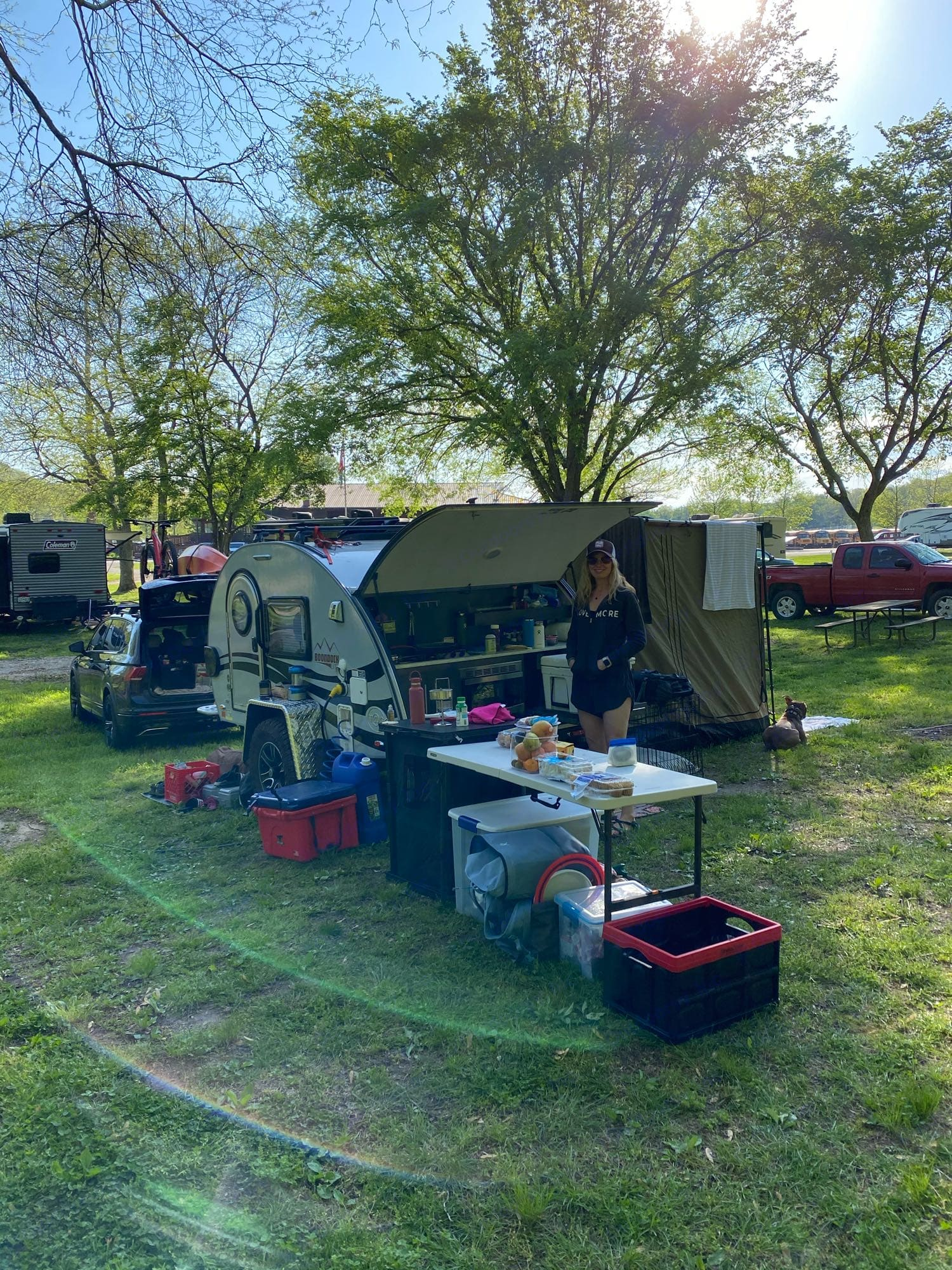 fully setup camp. Nucamp T@G Boondock 2020