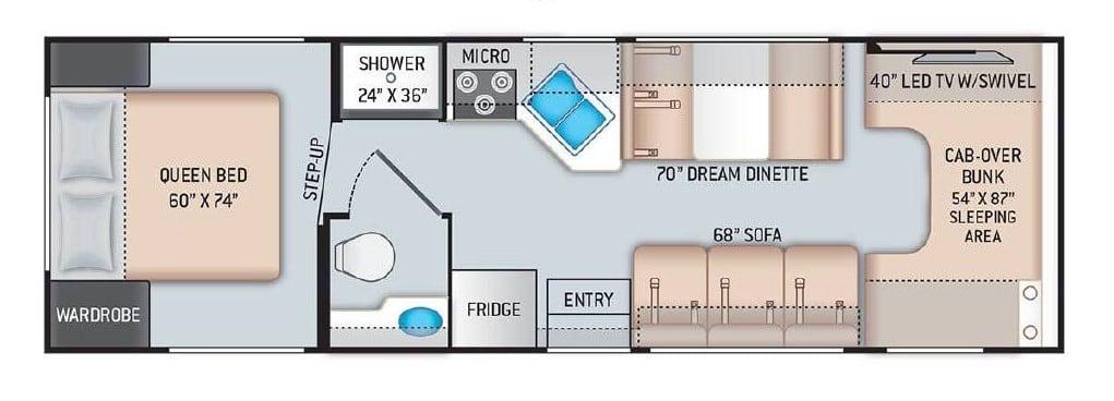 Floorplan. Thor Motor Coach Chateau 2021