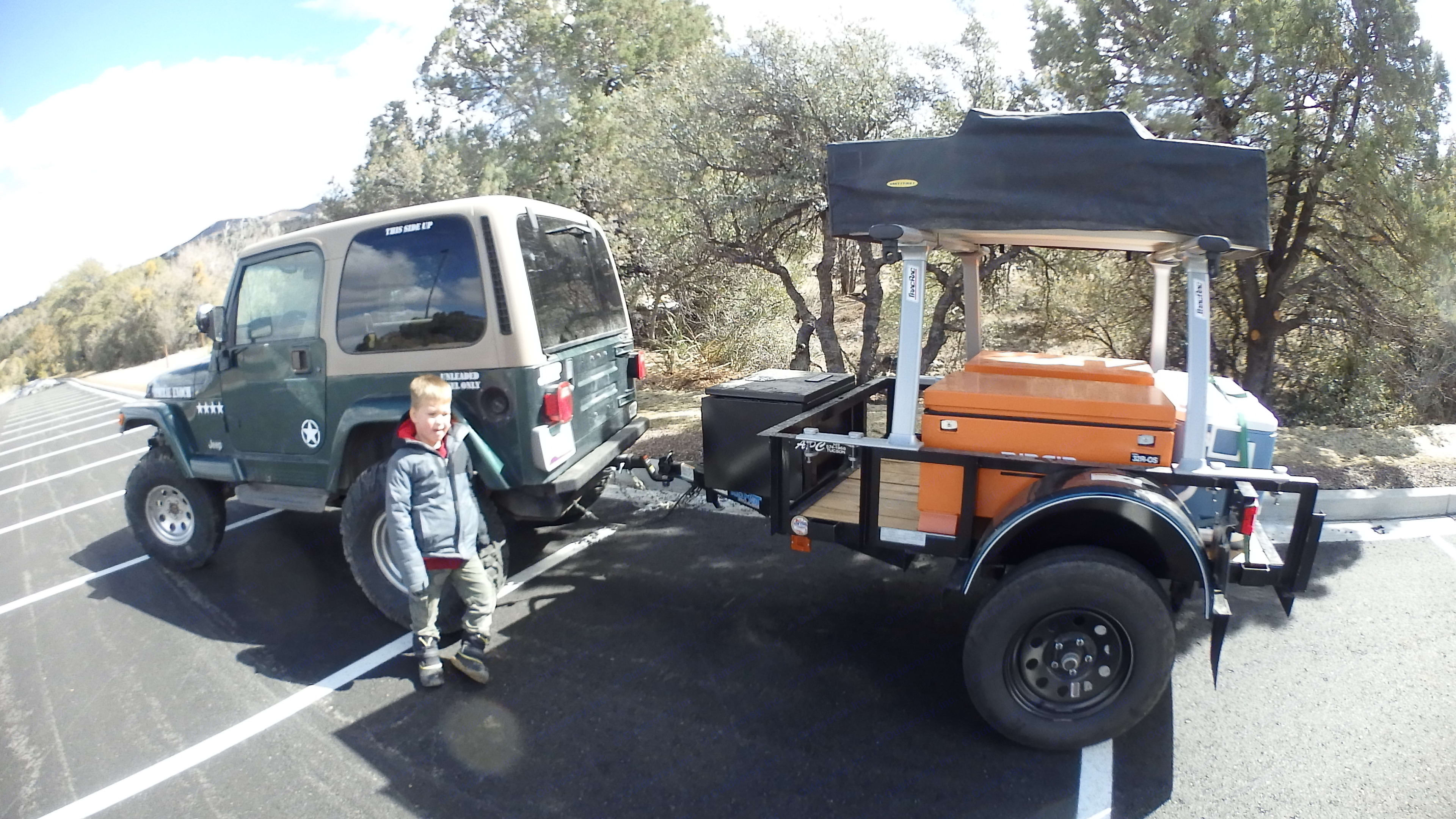 My son loves going out in this JEEP!. Jeep Wrangler 2000