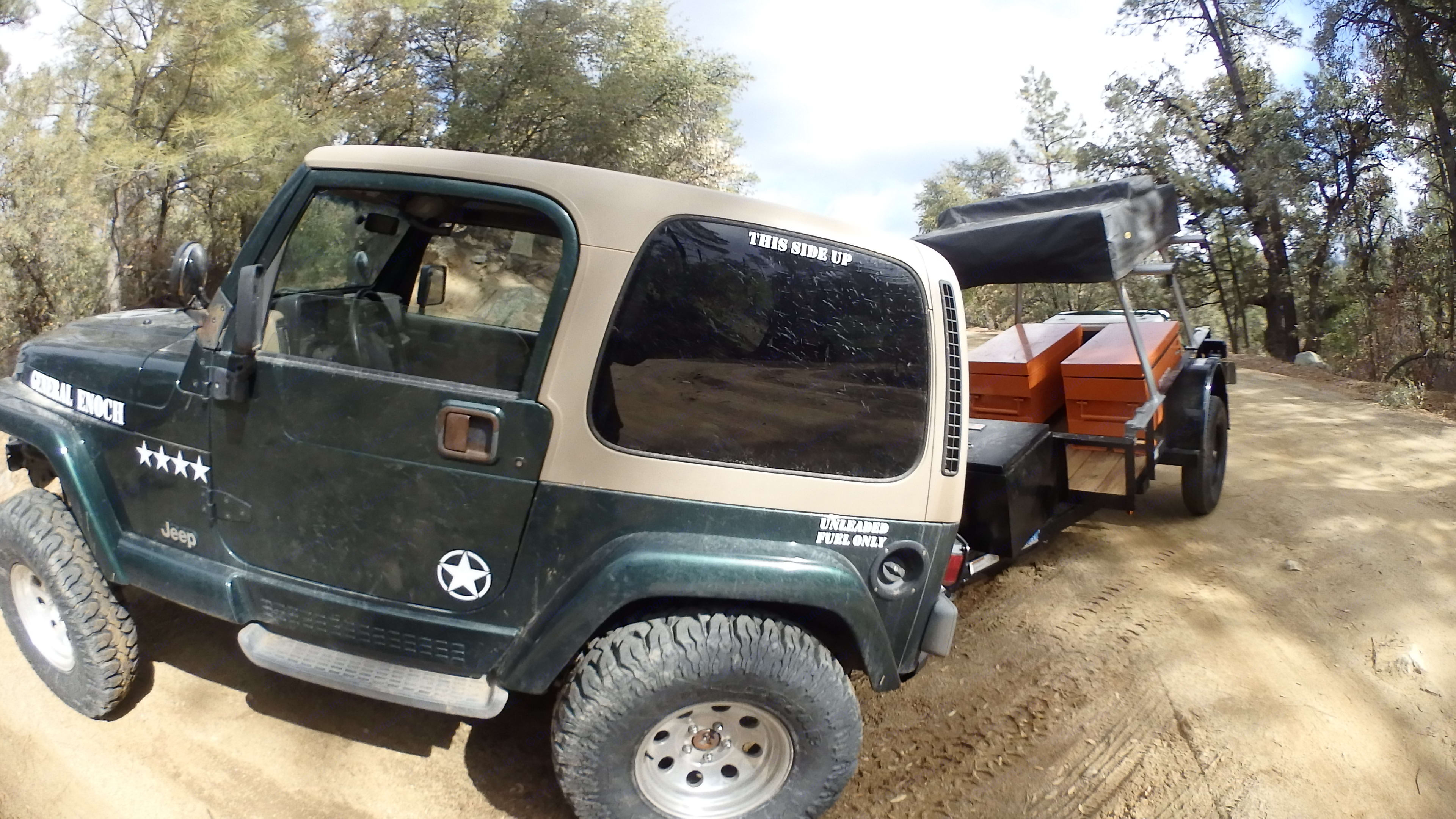 Easy to maneuver and park the trailer any way you want it with this JEEP!. Jeep Wrangler 2000
