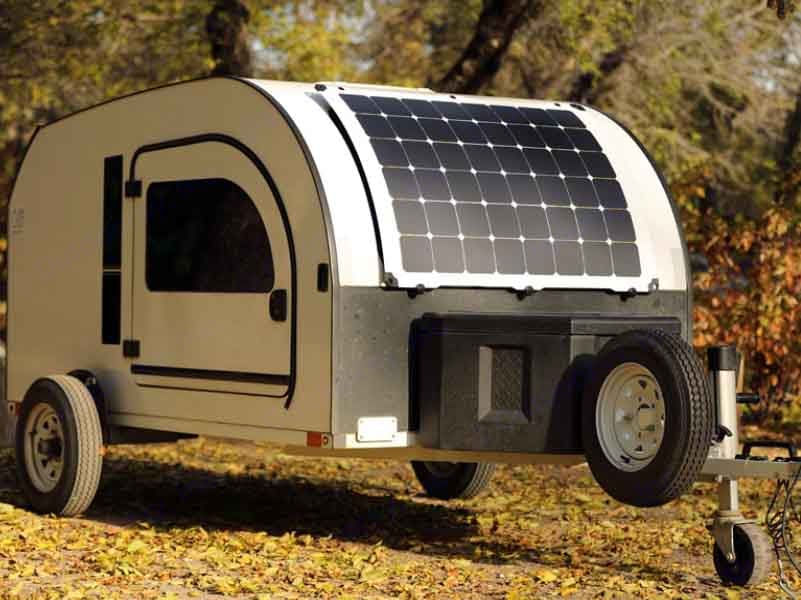 Solar panel so you never run out of energy. DROPLET Trailer 58 2021