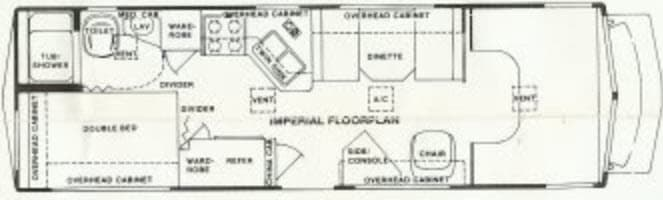 This is the original layout of Valentine. . Holiday Rambler Aluma-Lite 1986