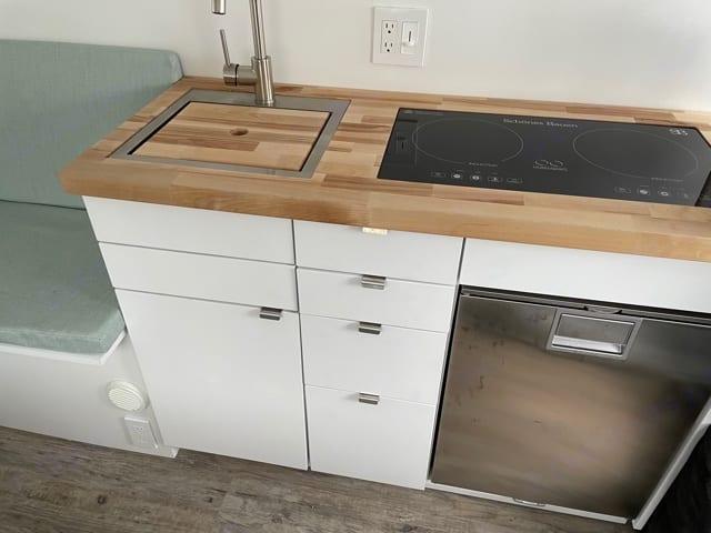 Kitchen with fridge. Dodge Ram 2500 2020