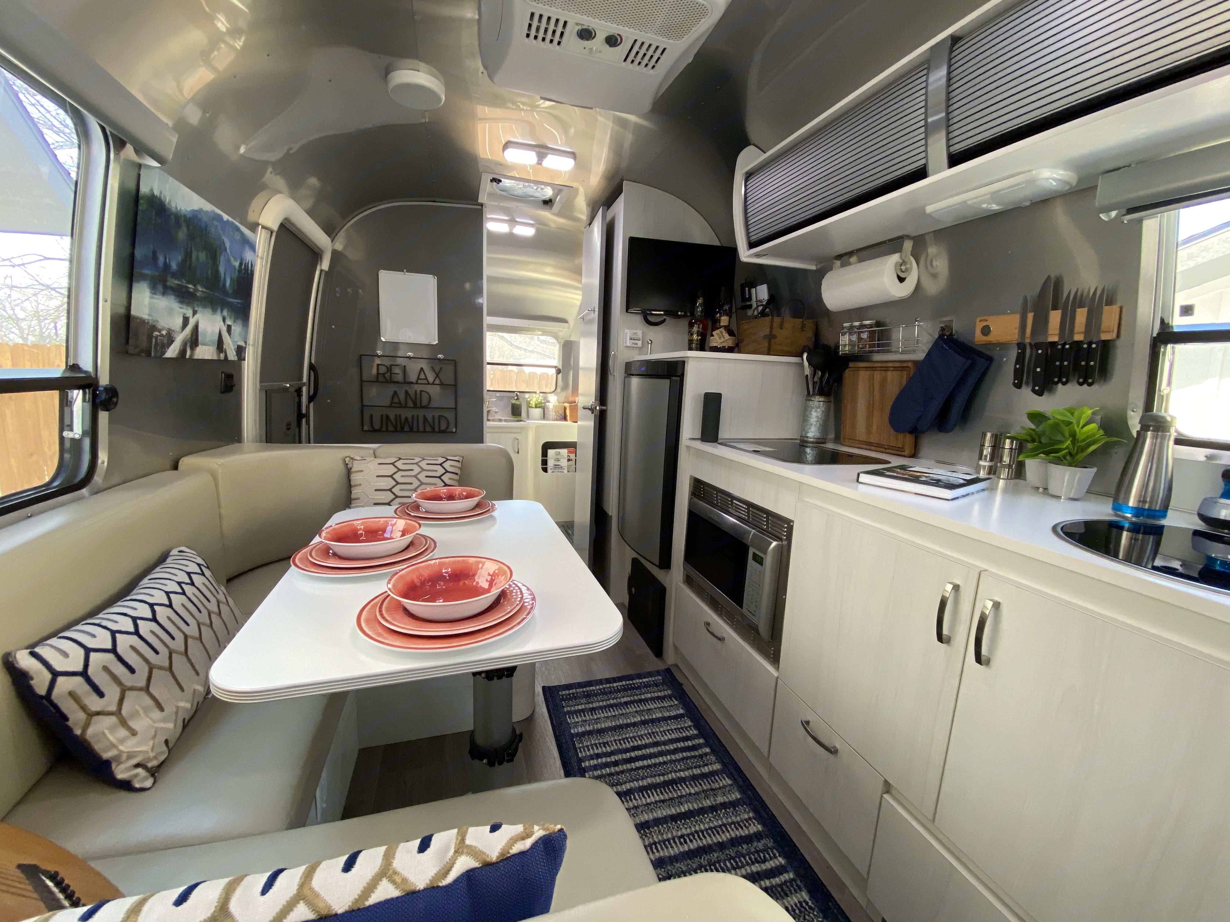 View towards the rear of the Airstream.. Airstream Sport 2016