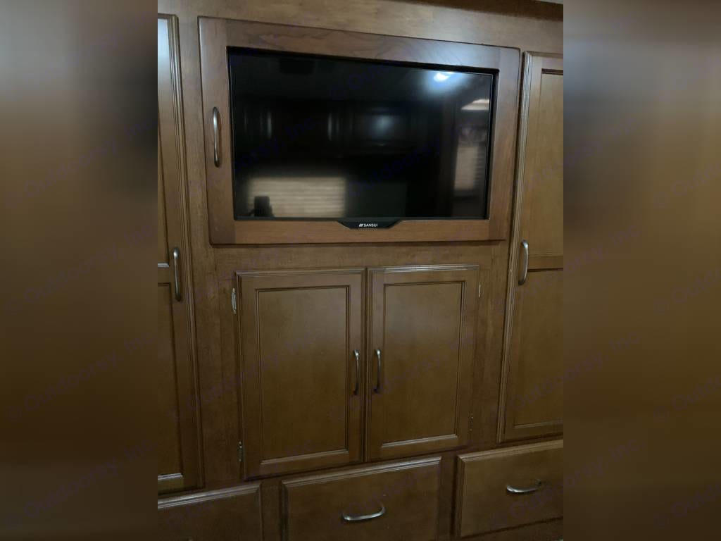 Master Bedroom Closet and TV. Coachmen Mirada 2015