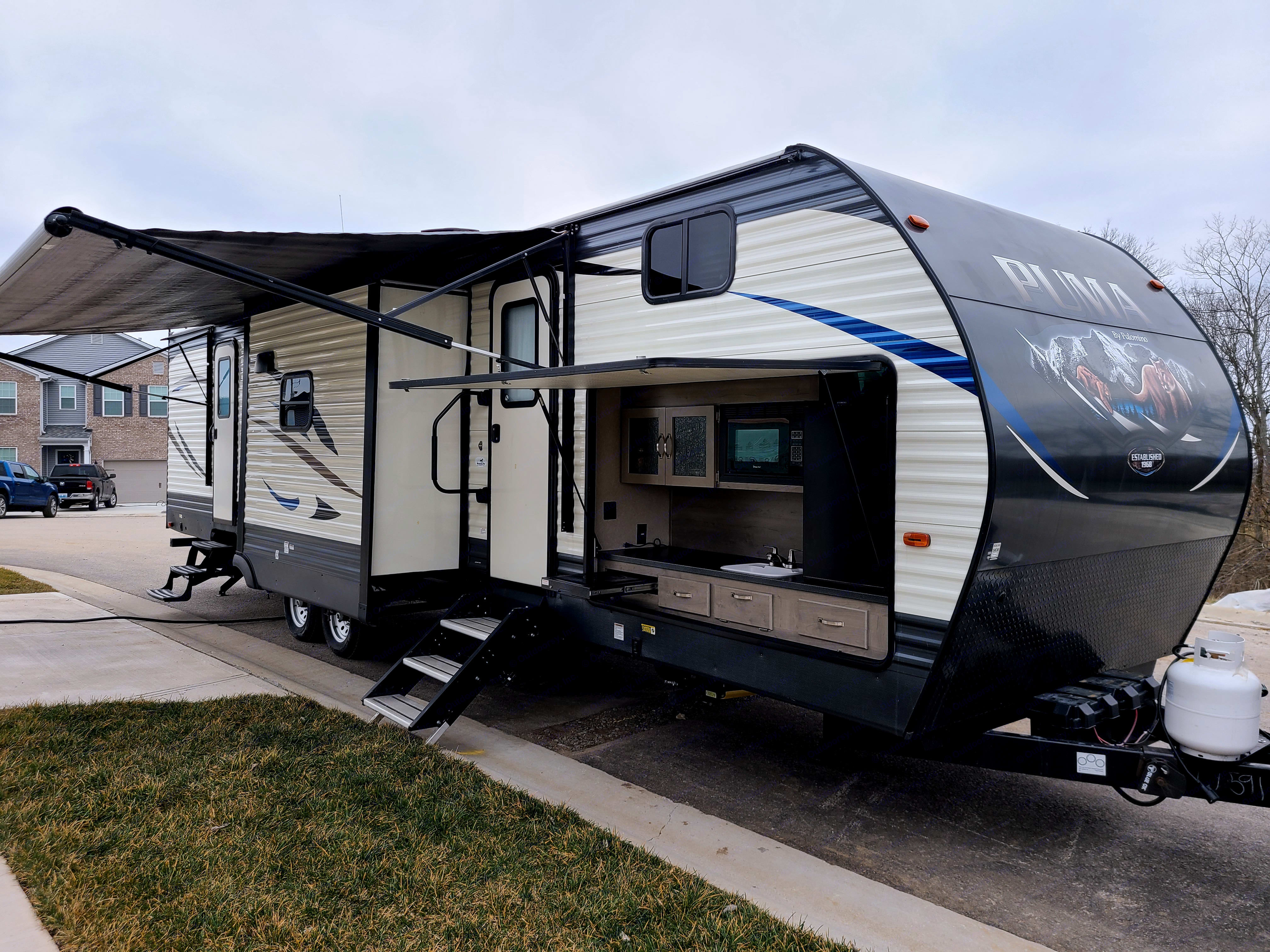 Puma has 3 slide-outs that provide extra room to spread out and relax!. Palomino Puma 2019