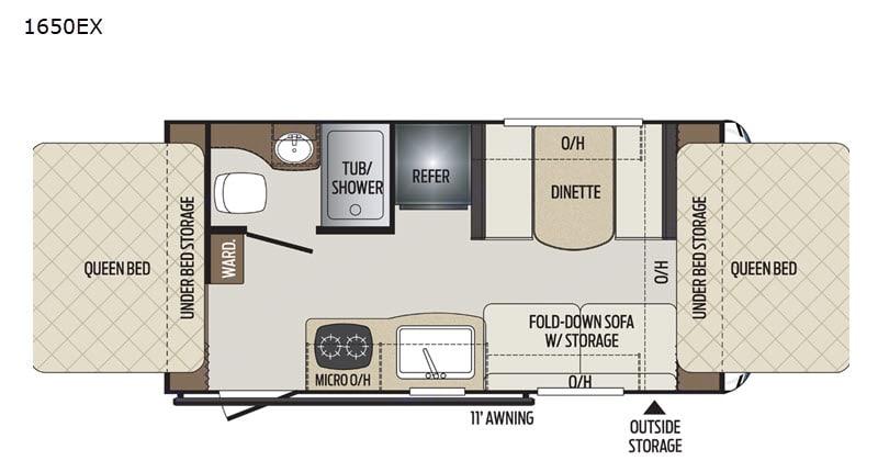 Floorplan. Keystone Bullet 1650EX 2021