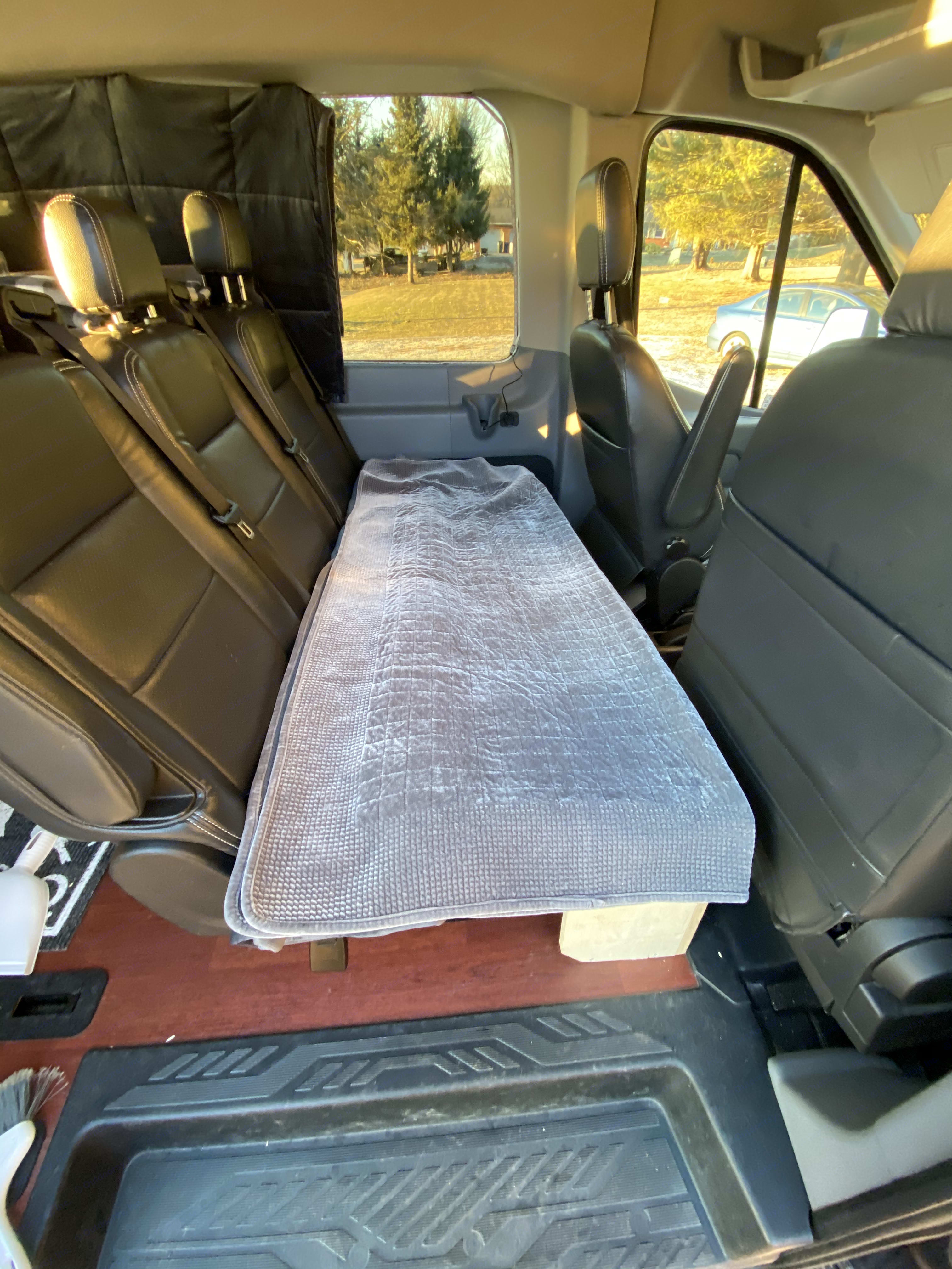 "I'm 5""10 and I sleep in it just fine. . Ford Transit Custom high roof extended 2017"