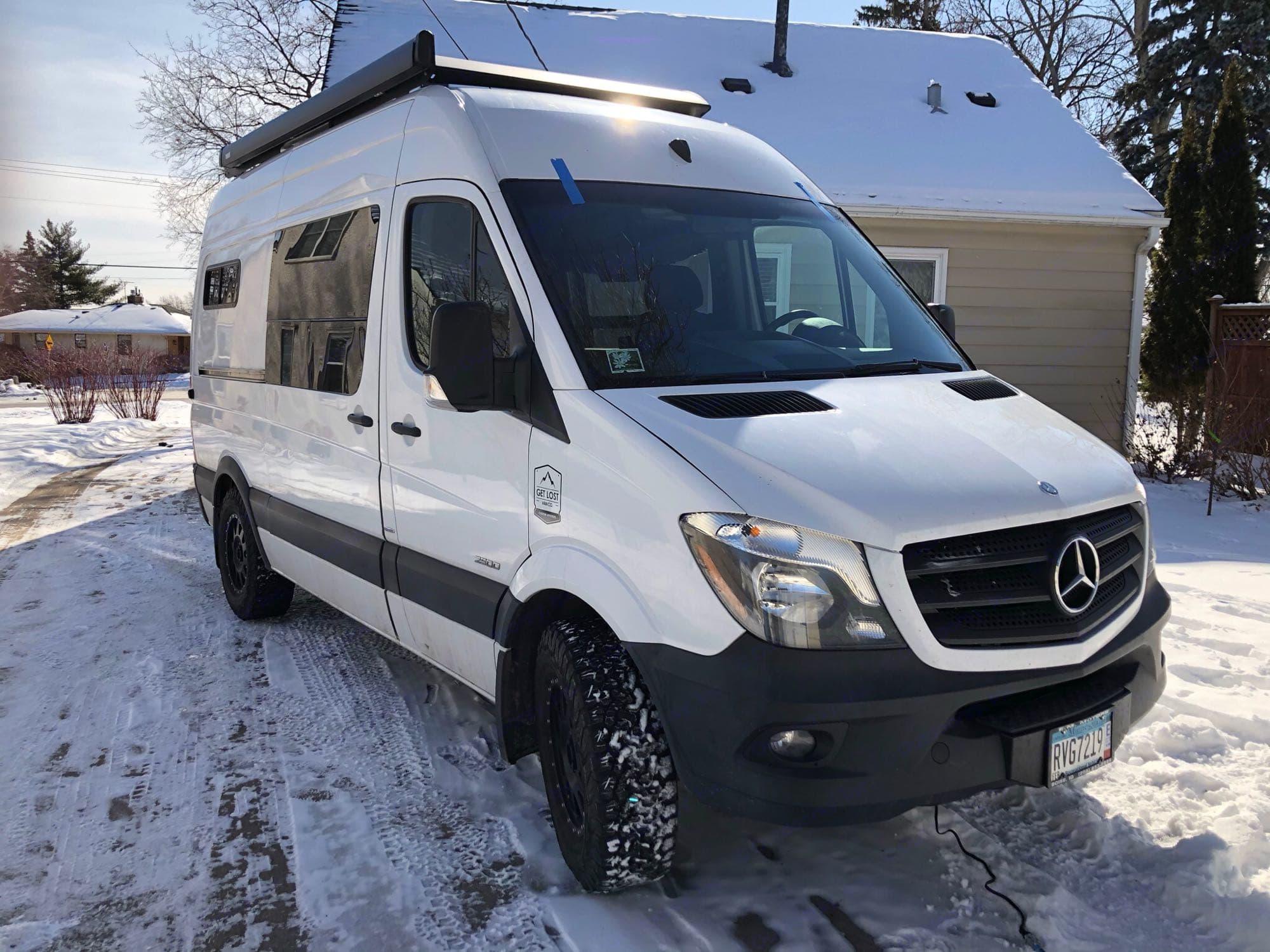 Wintery weather? Snow problem!. Mercedes-Benz Sprinter 2014