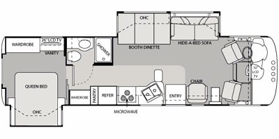 Floor plan of Windsport 32V. Four Winds Windsport 2011