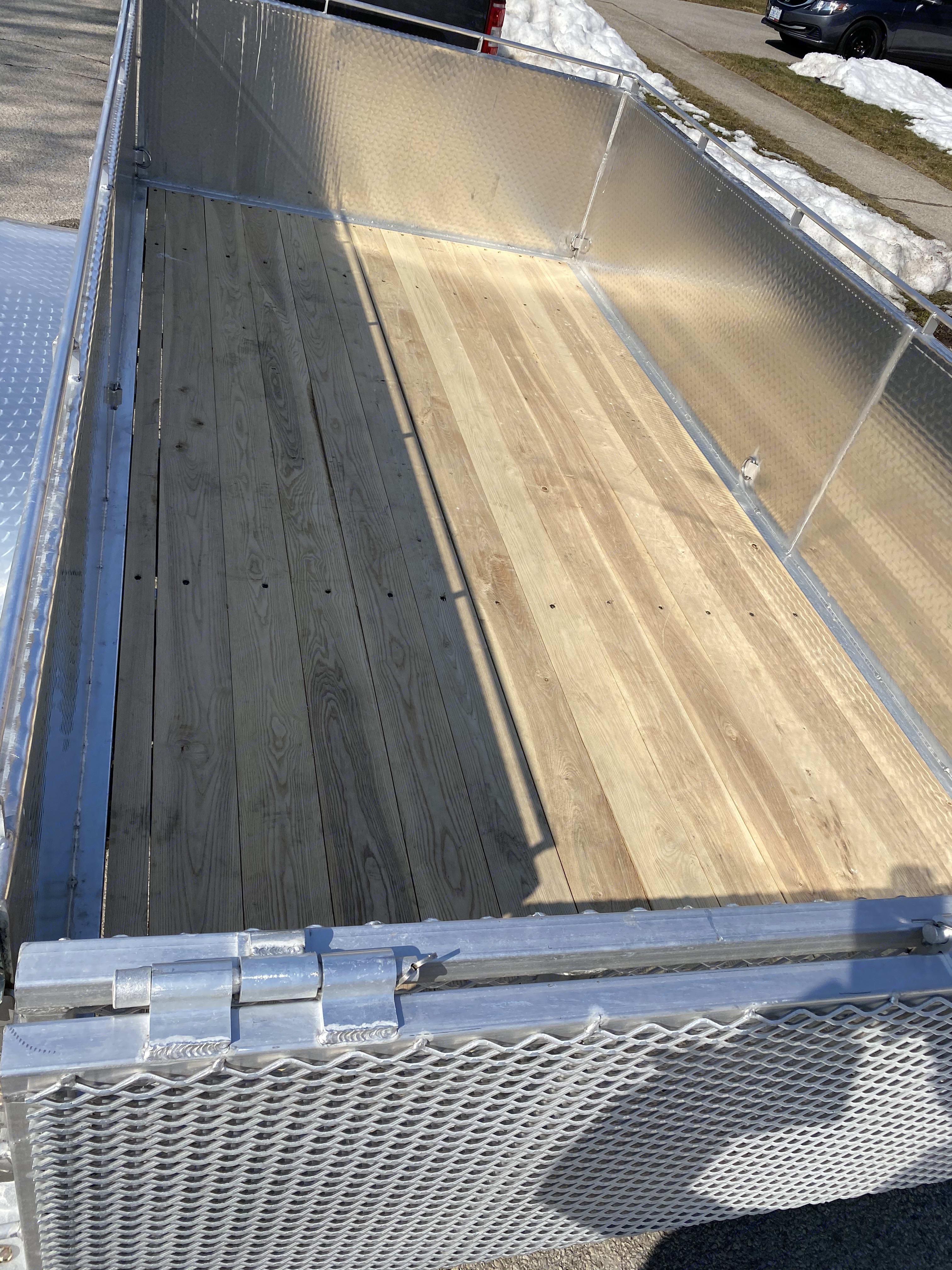 Hardwood decking.. Aluminum Utility 6' x 12' 2021
