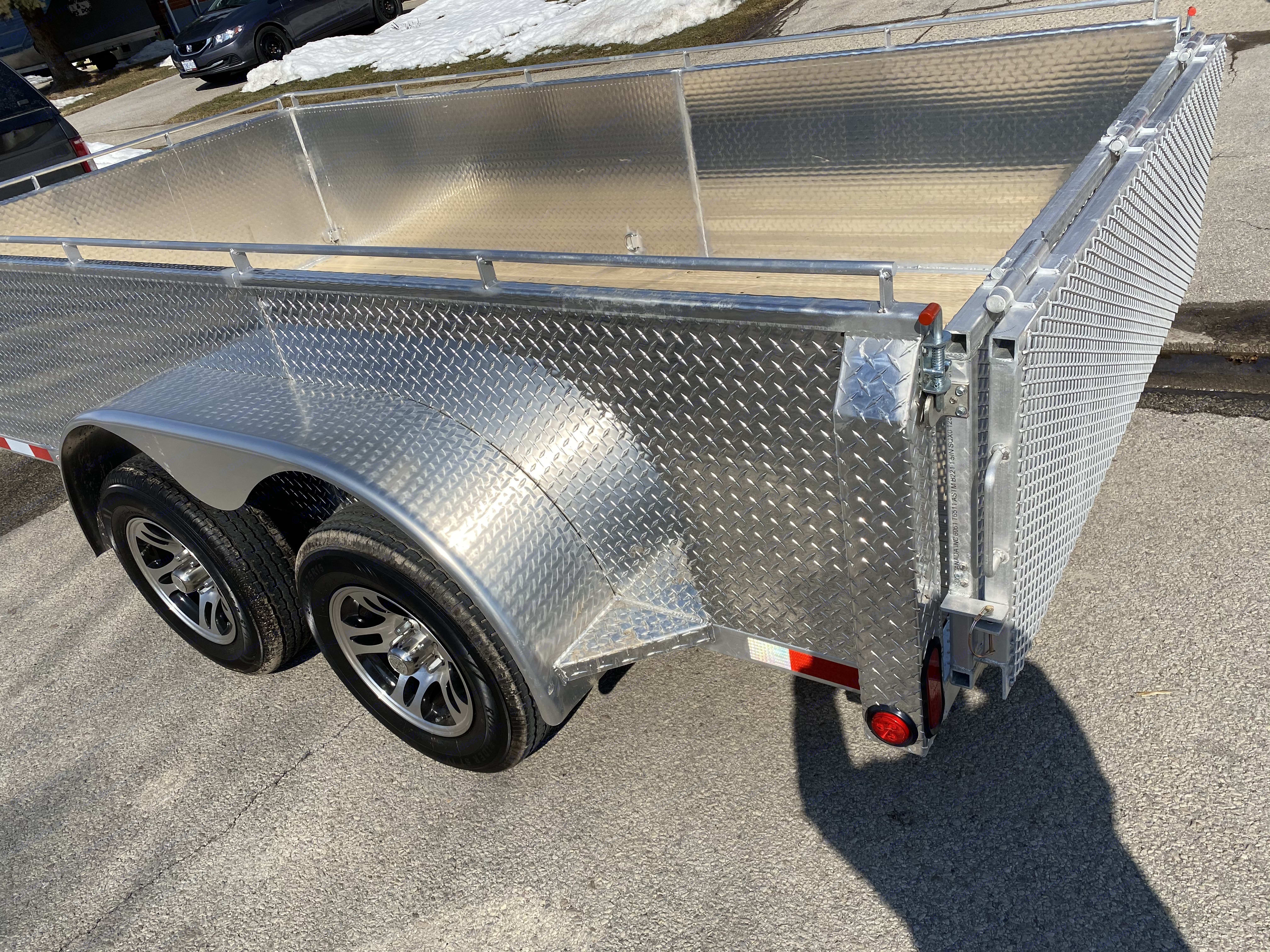 Bifold gate is lite and easy to operate. Aluminum Utility 6' x 12' 2021