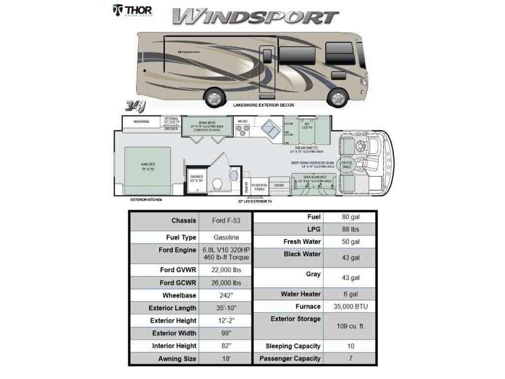 Thor Motor Coach Windsport 2016