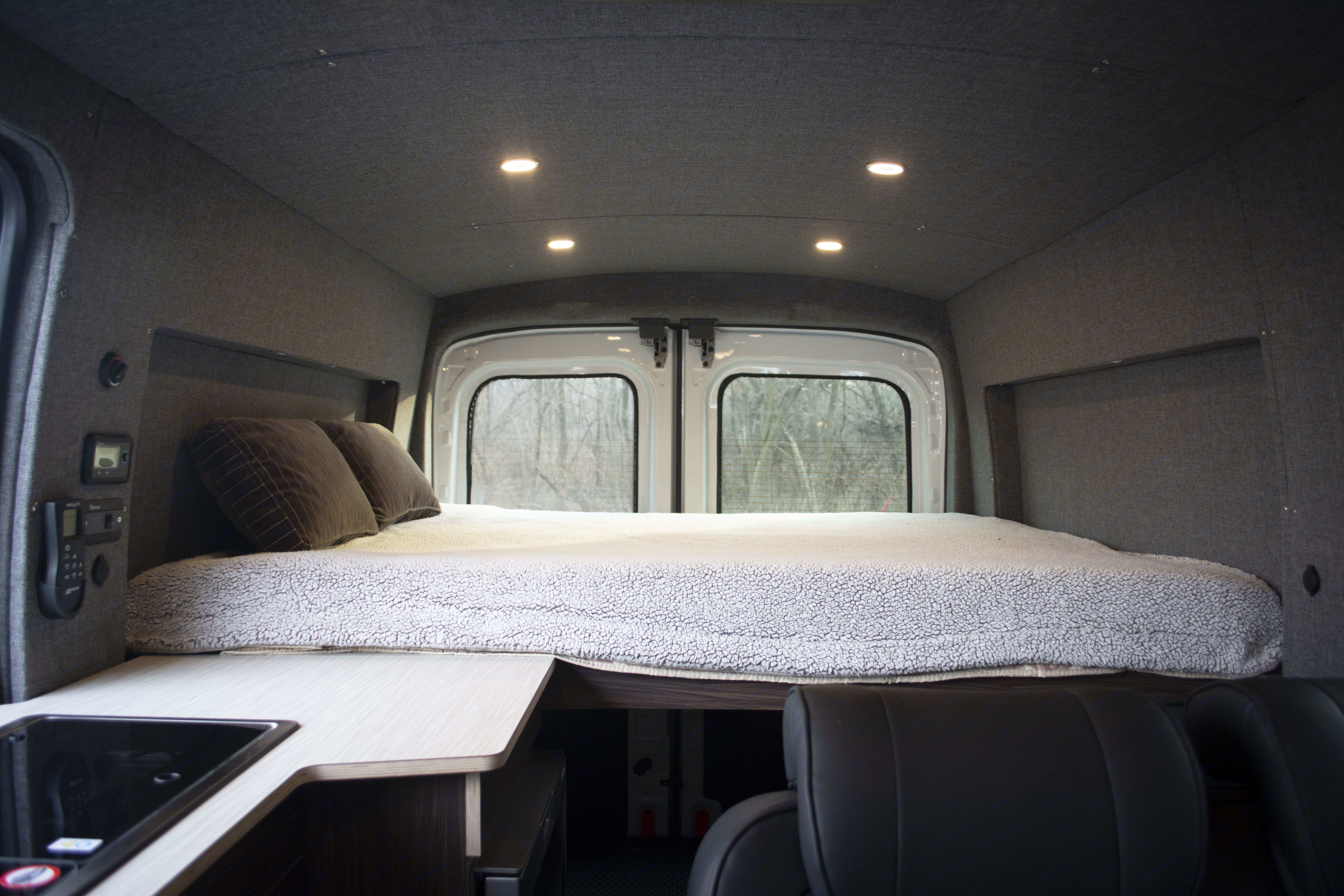 Memory Foam Queen Bed. Ford Transit 2017