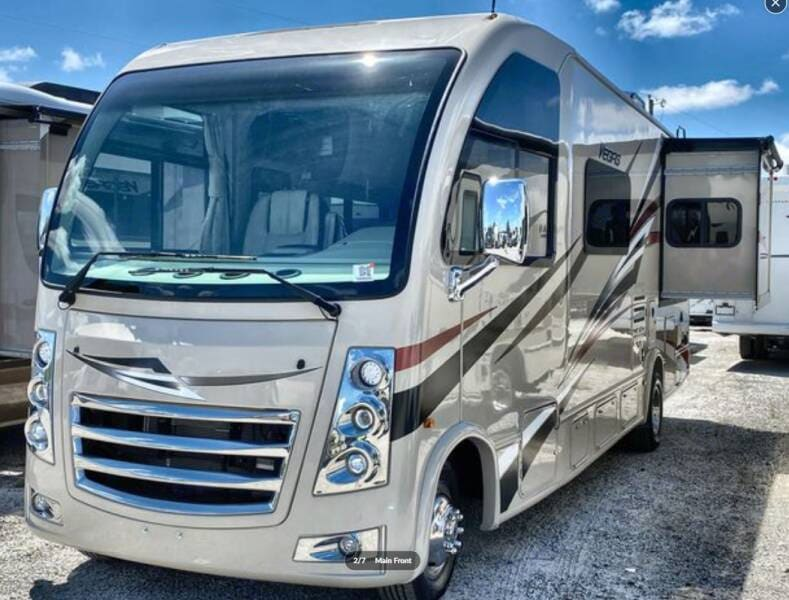 Thor Vegas 25.3 Front end with slide side view. Thor Motor Coach Vegas 2018