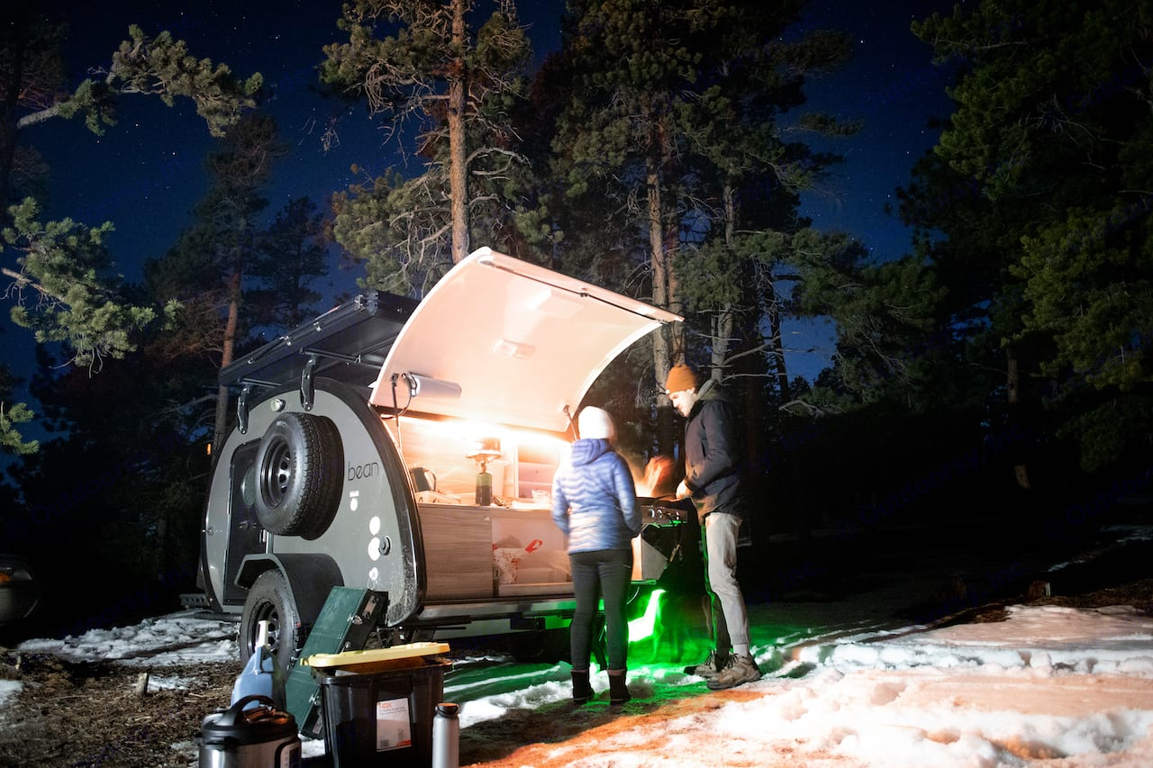 Even the nights are better...in Mobi the Mean Bean. Bean Teardrop Trailer Mean Bean 2021