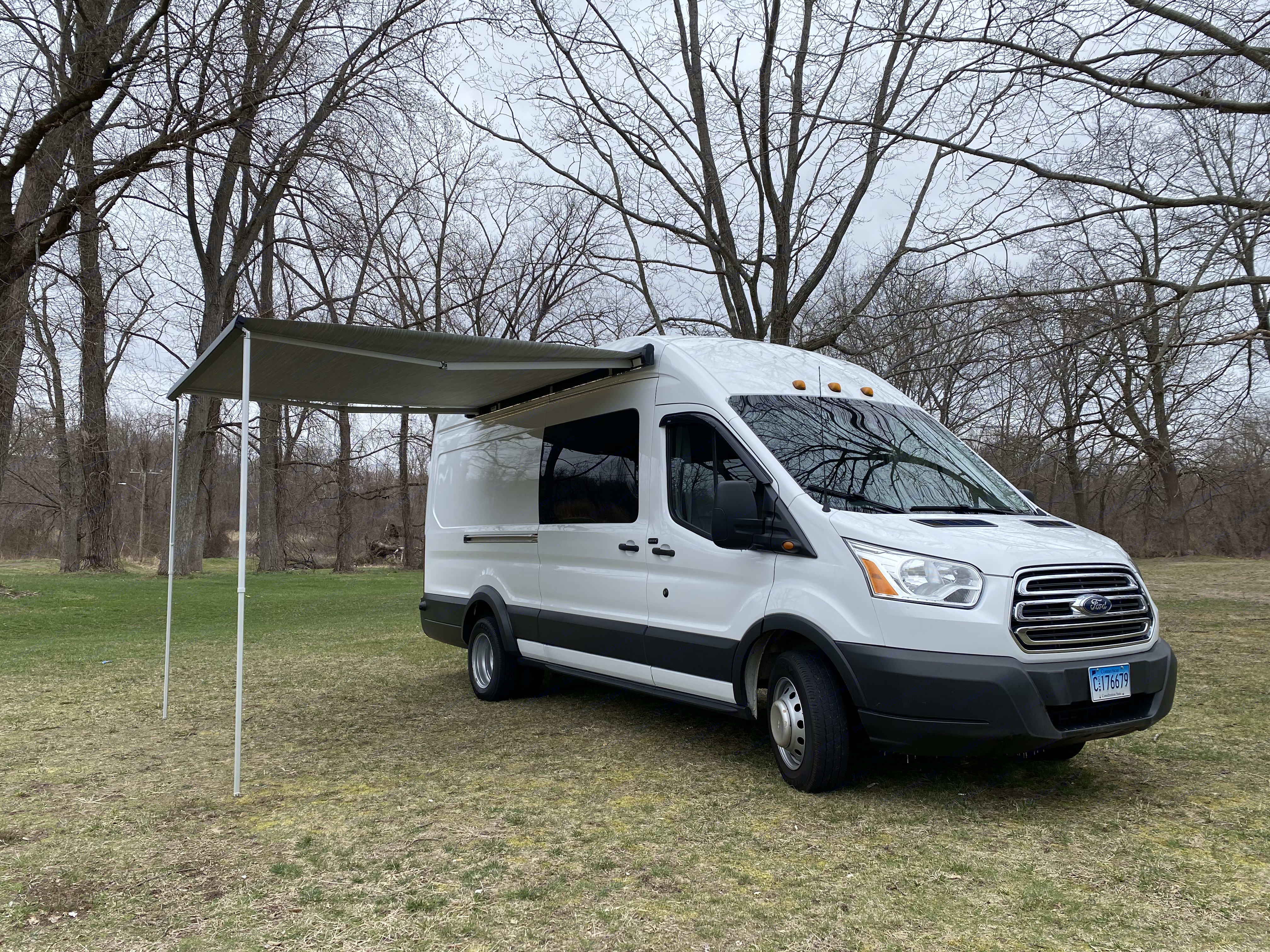 Here is The Touring Transit, armed and ready for an adventure of a lifetime!. Ford Transit Motorhome 2015