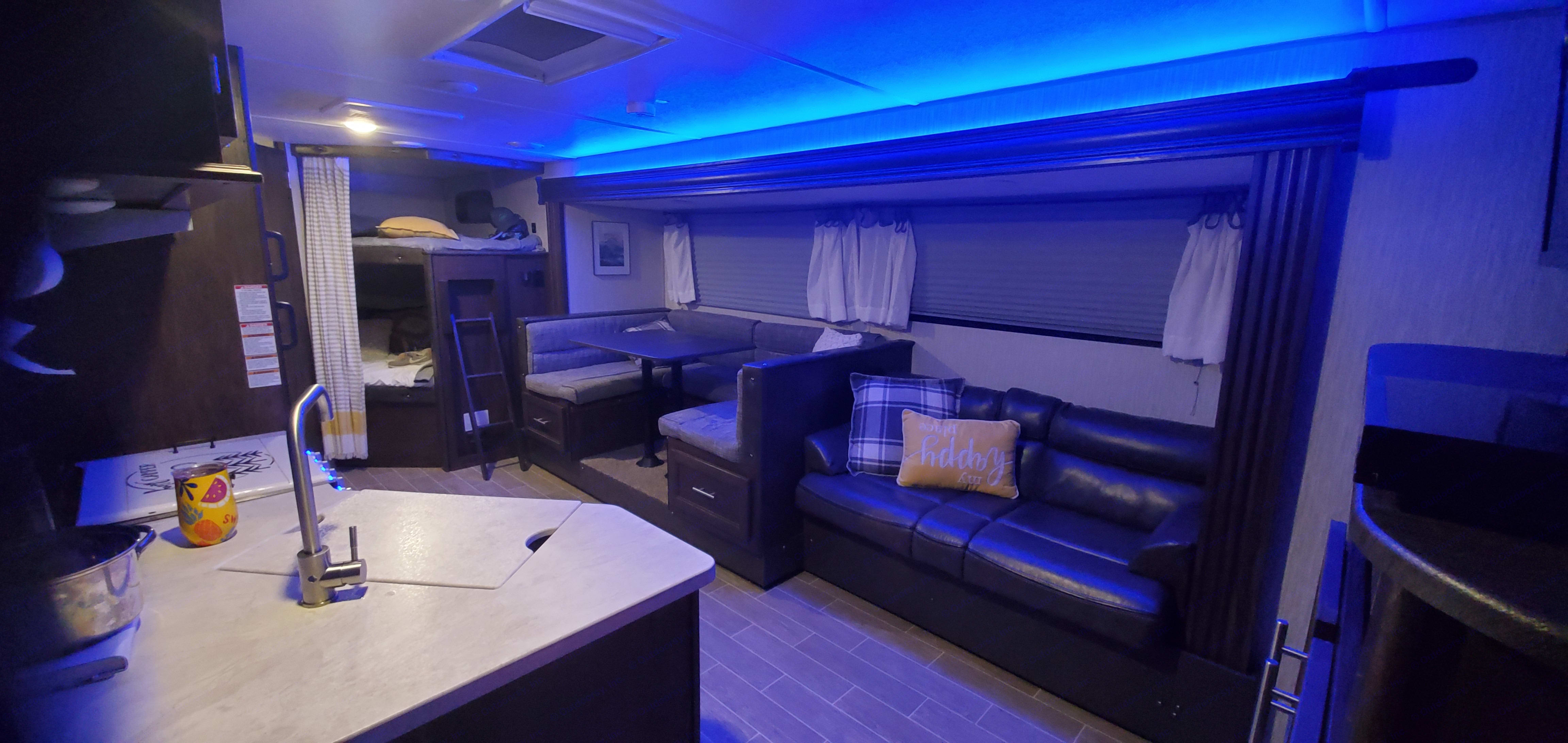 Enjoy led lights at night while you relax inside.. Forest River Cherokee Grey Wolf 2020