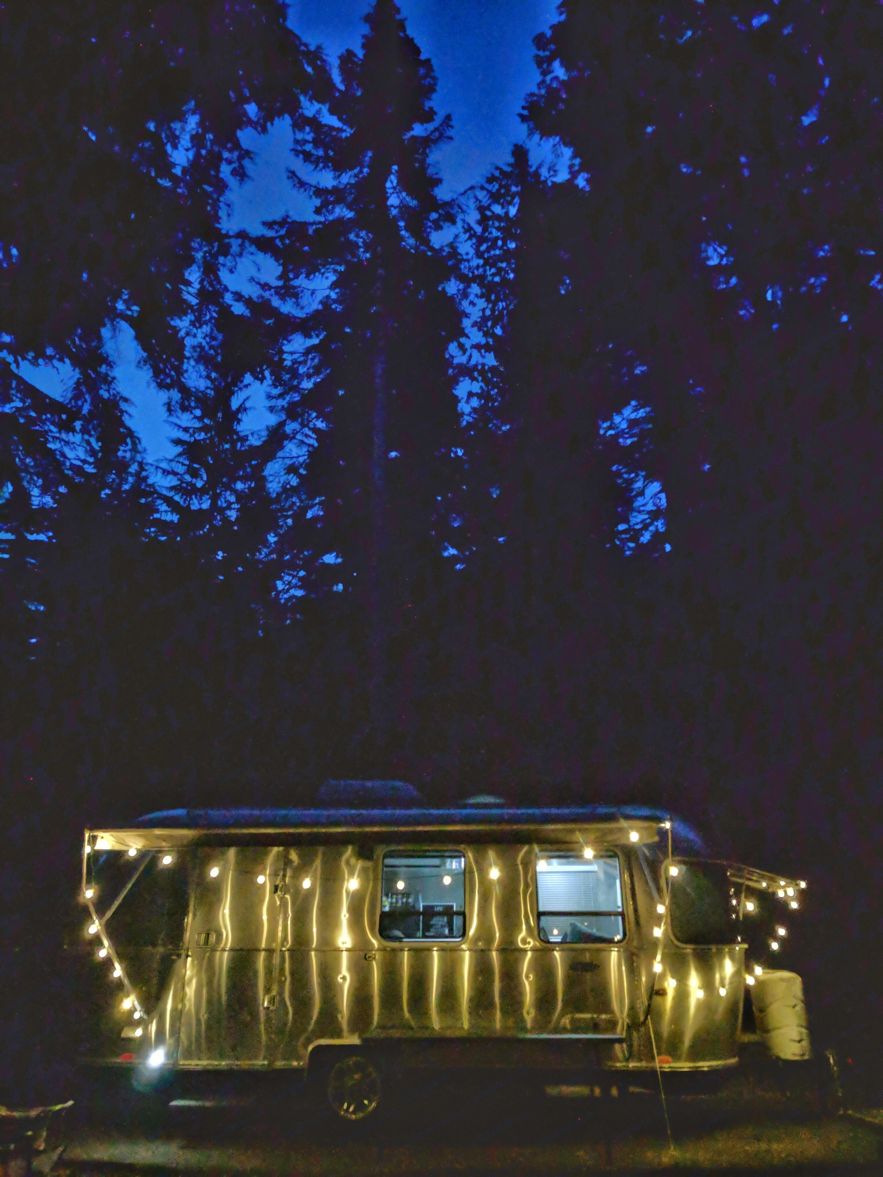 Everyone loves the look of an Airstream, especially with the awning out and lights hung for a hip camping feel!. Airstream Sport 2014
