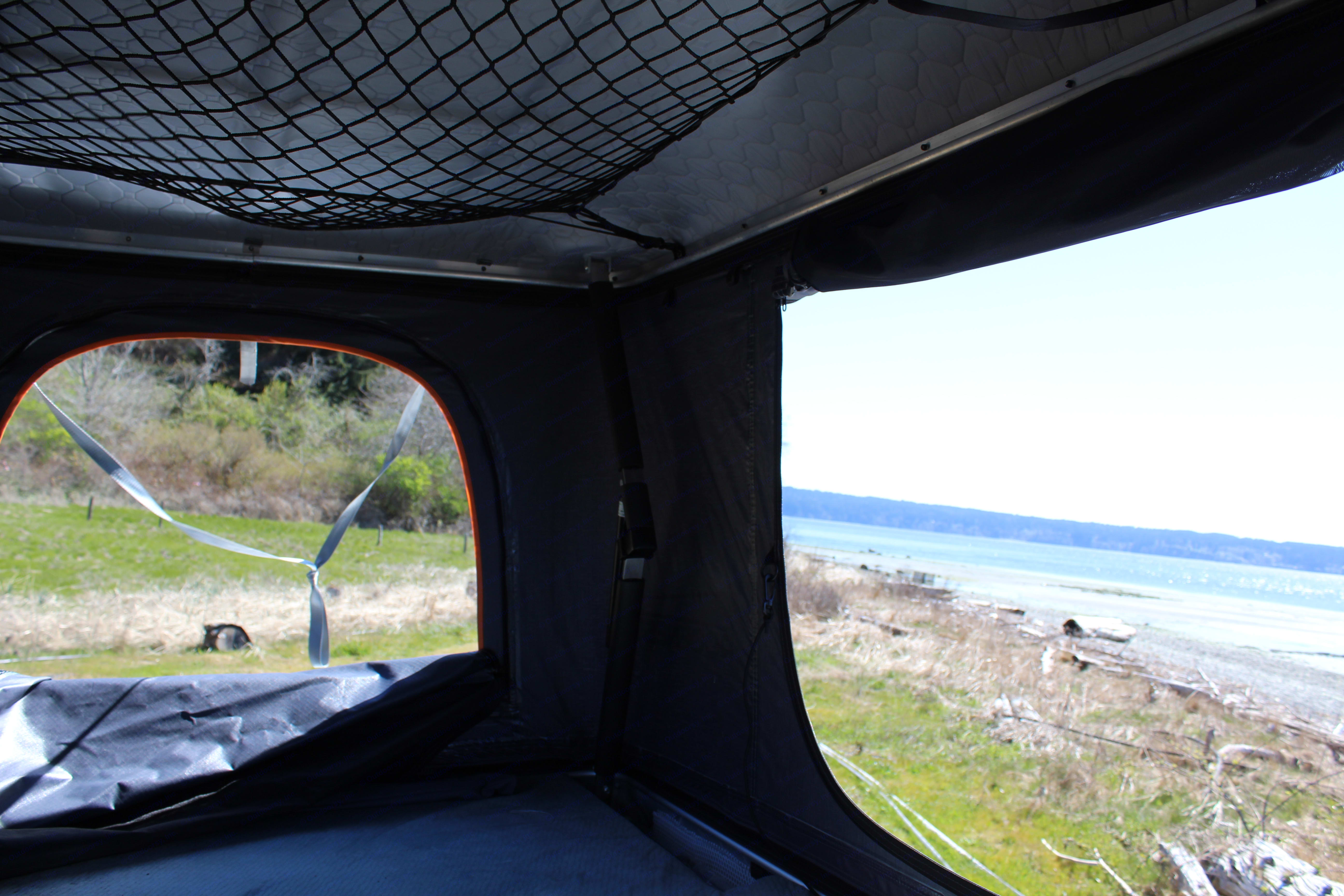 View from the optional rooftop tent! . Ford Transit 2019