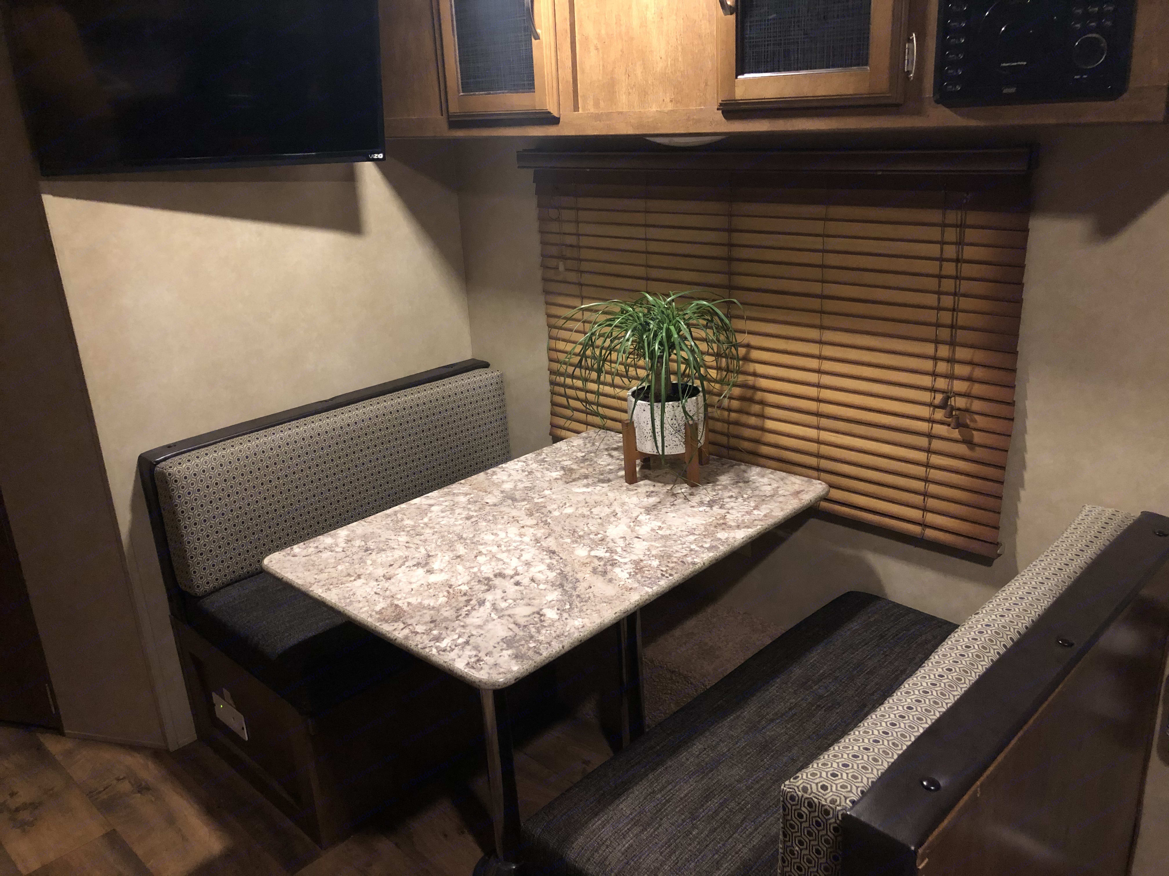 Converts to sleeping area at night. Forest River Salem Cruise Lite 2017