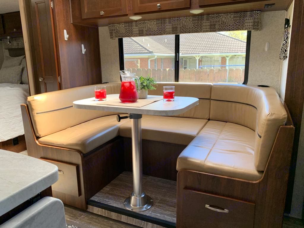 Converts to Bed for Two. Forest River Sunseeker 2018