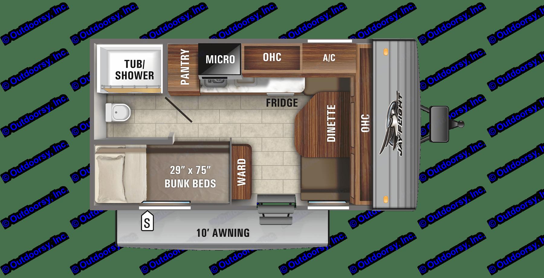 Compact, efficient floor plan.. Jayco Jay Feather Baja 2021
