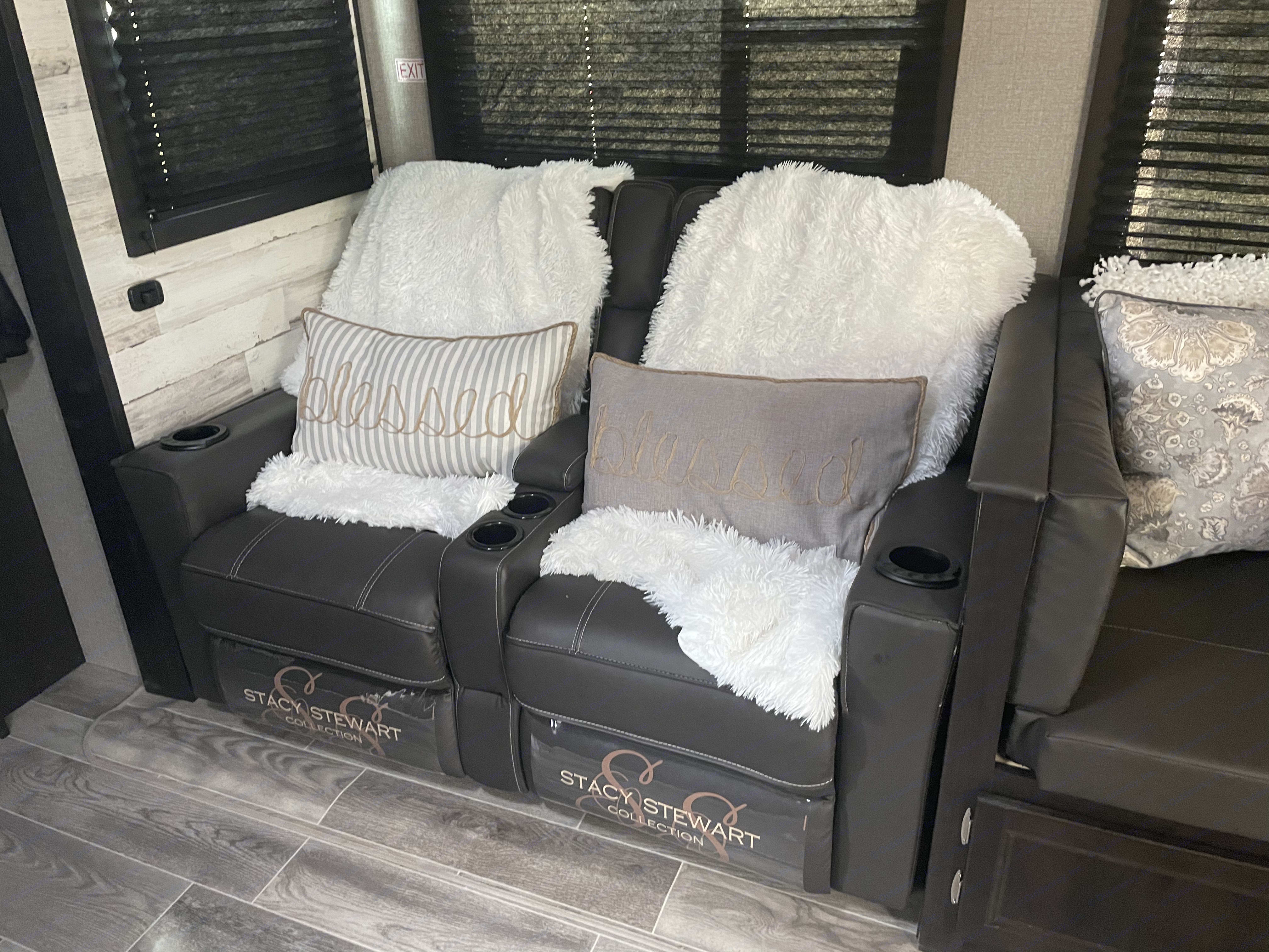 These massage and heated ready leather recliners elevate your camping experience to glamping!. Jayco Jay Feather 2021