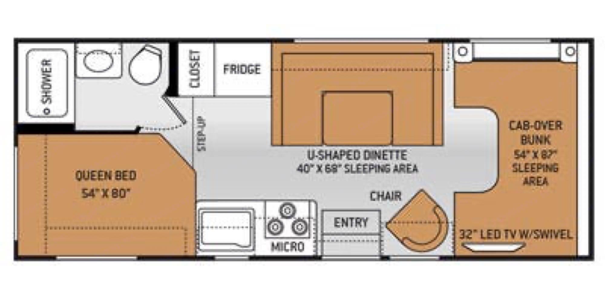 Floorplan. Thor Motor Coach Chateau 2015