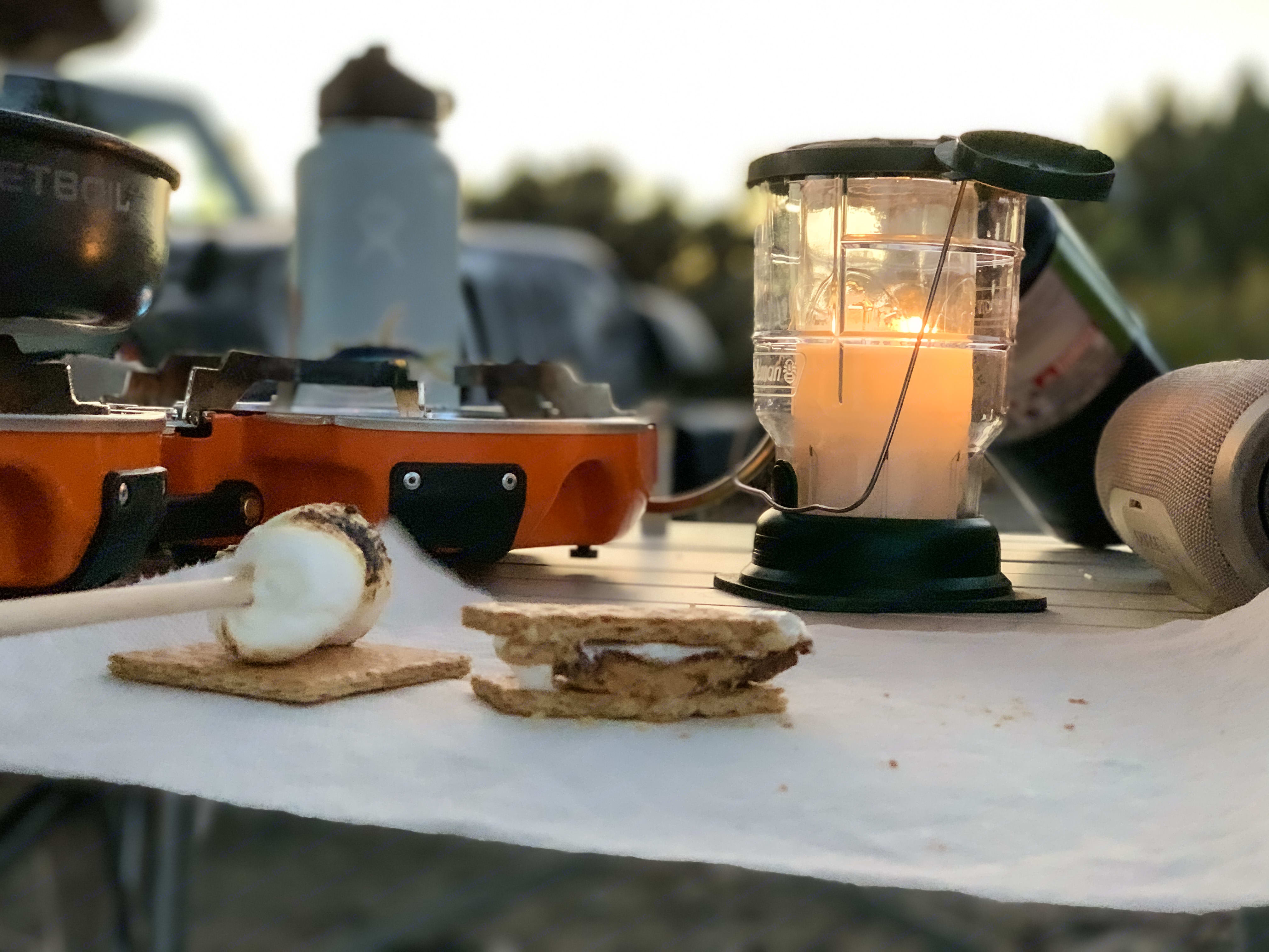 Enjoy smores in some incredible campsites, places you cannot reach without 4 wheel drive. Jeep Wrangler Unlimited 2016