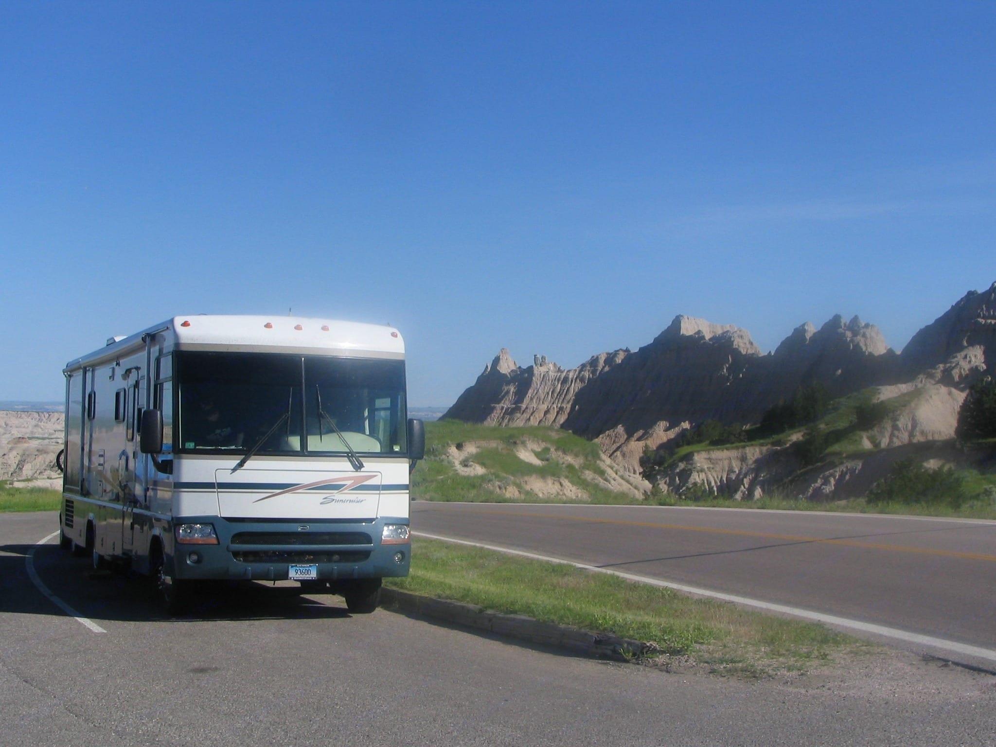 Utah, during cross-country trip . Itasca Suncruiser 2004