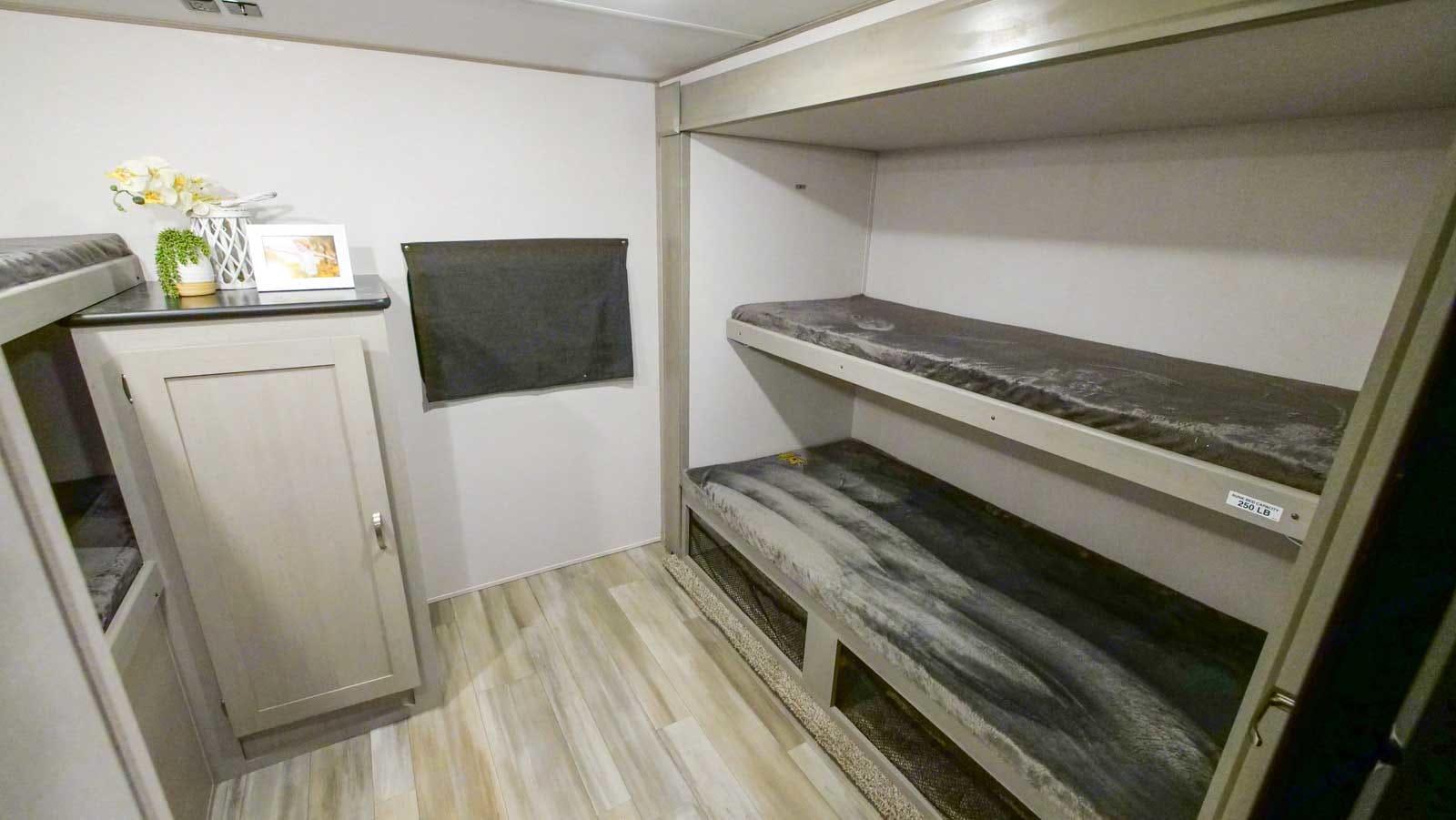 Quad bunk room - beds 3 & 4. Prime Time Tracer 2021