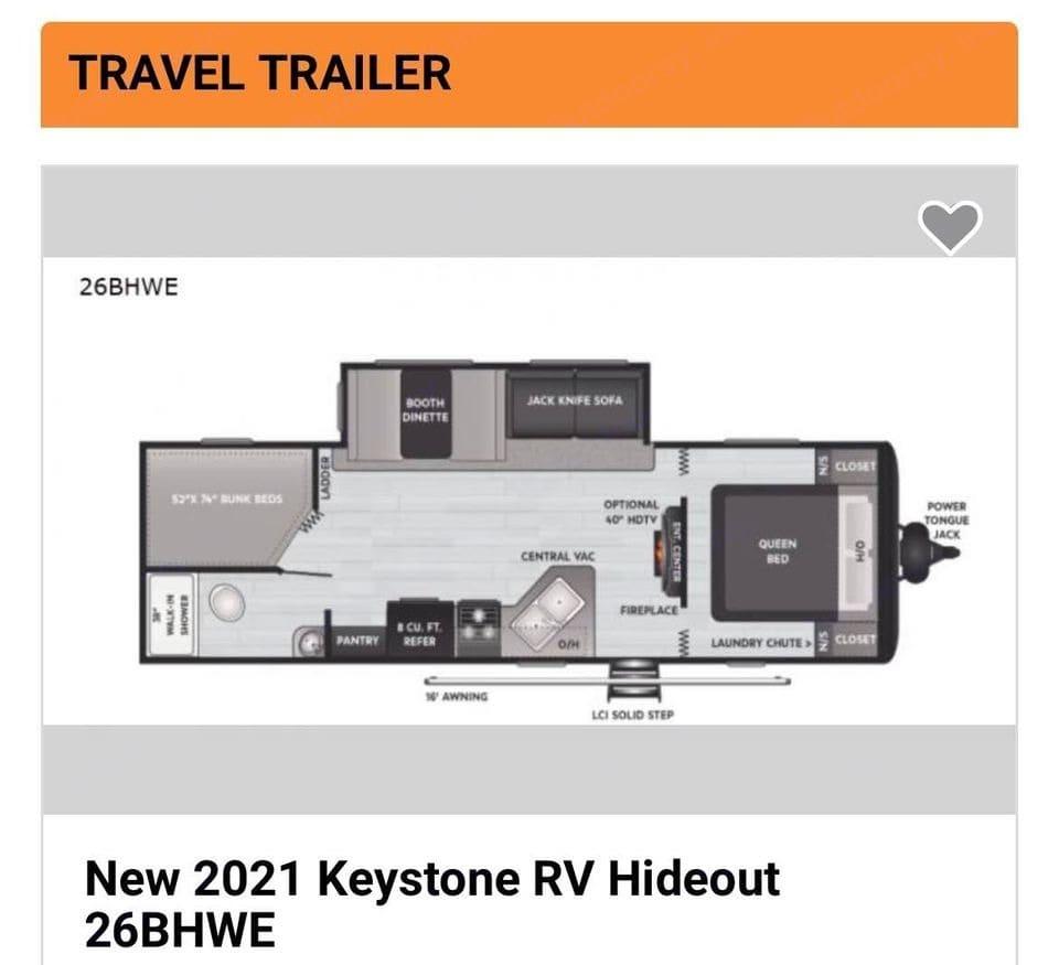Keystone Hideout 26BHWE 2021