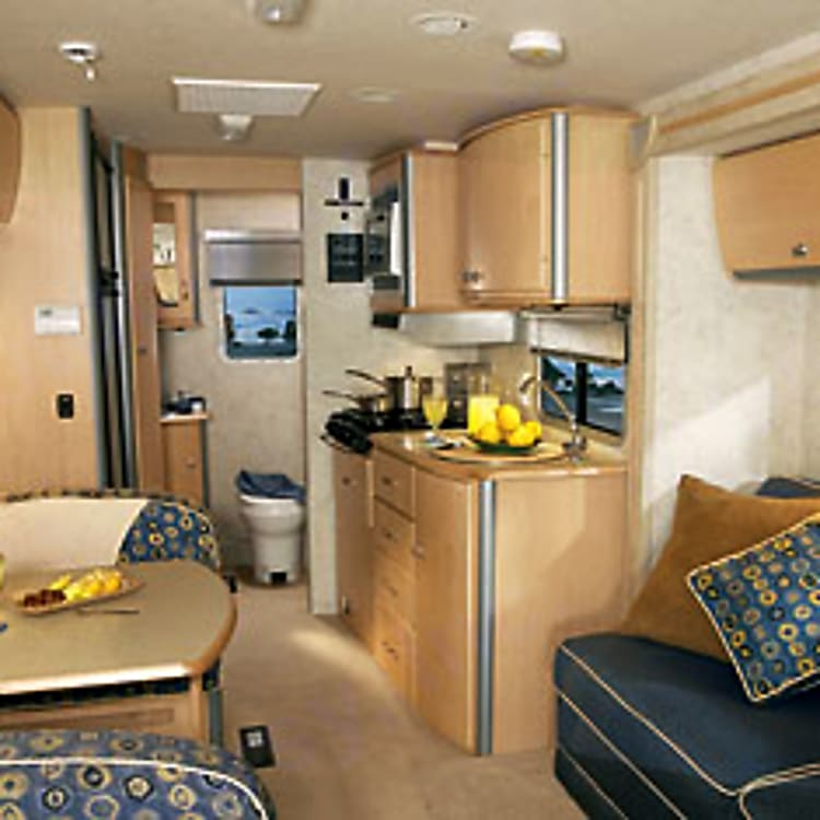 Inside Galley is your home away from home.  Slideout couch/bed gives you more space.