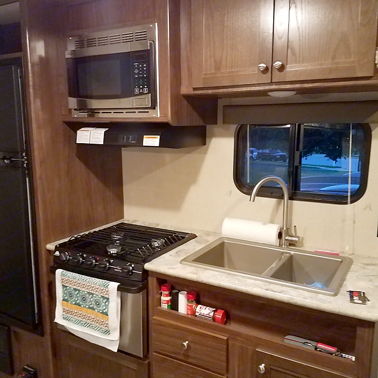 Furnished with pots, pans, utensils, but no plates or silverware because its your vacation and why would you want all those extra dishes!?