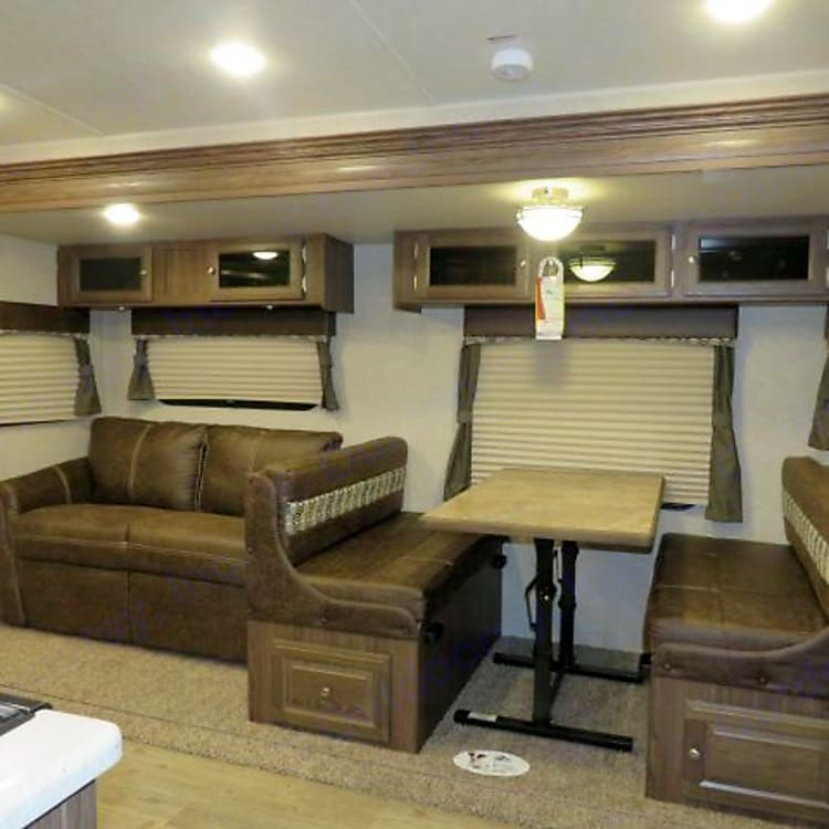Spacious interior with Super Slide extended
