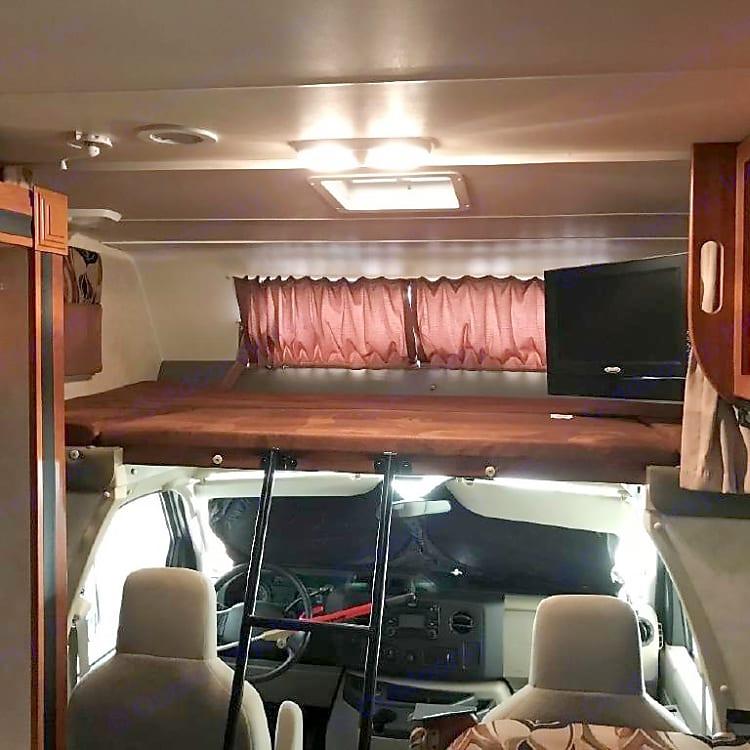 Over cab queen bunk