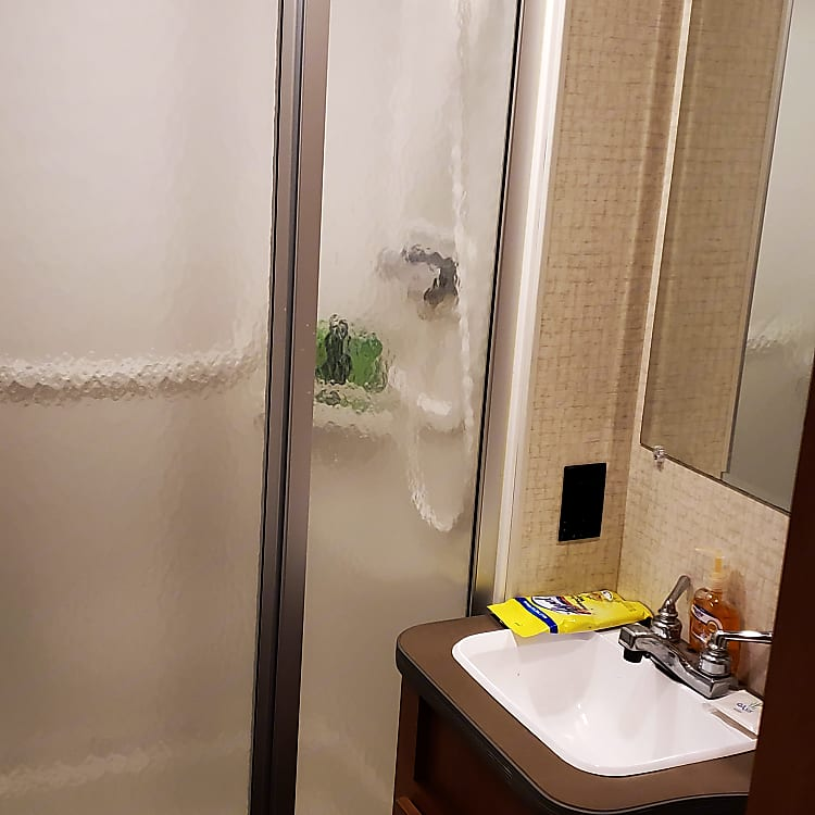 Full bathroom with stand up shower