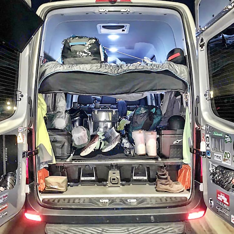 Loaded up & ready for a road trip to Mammoth!