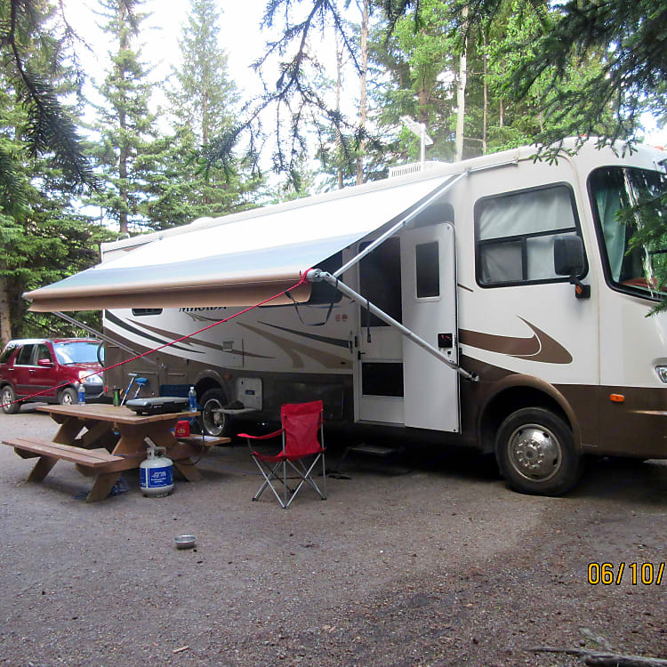 Outside View of Motorhome