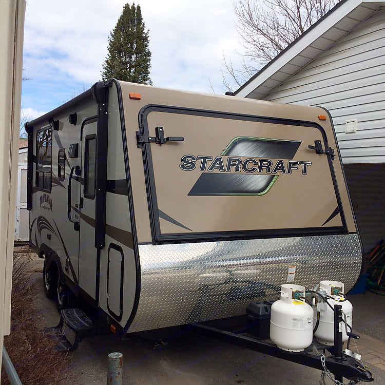 Hybrid makes towing a breeze and the size is perfect for all camp grounds. Larger ones are hard to accommodate