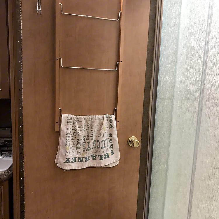 The bathroom door