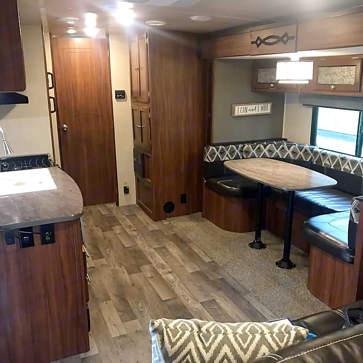 Main living space. Dinette converts to a bed