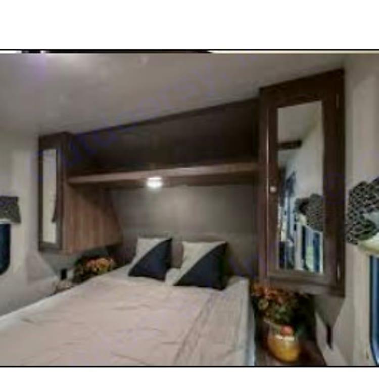 Separate master bedroom.