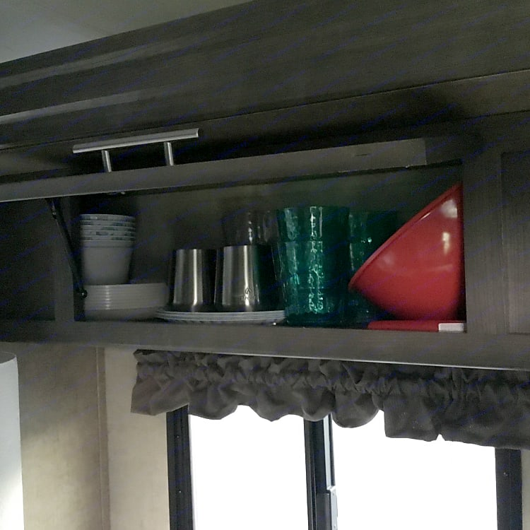 Storage - plates, bowls and cups.