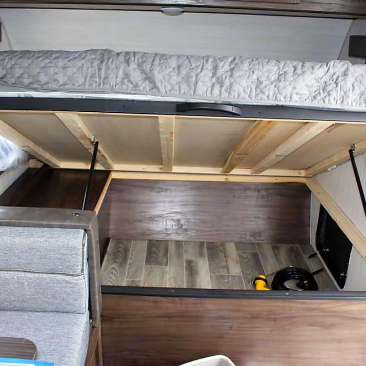 Storage under Queen Bed