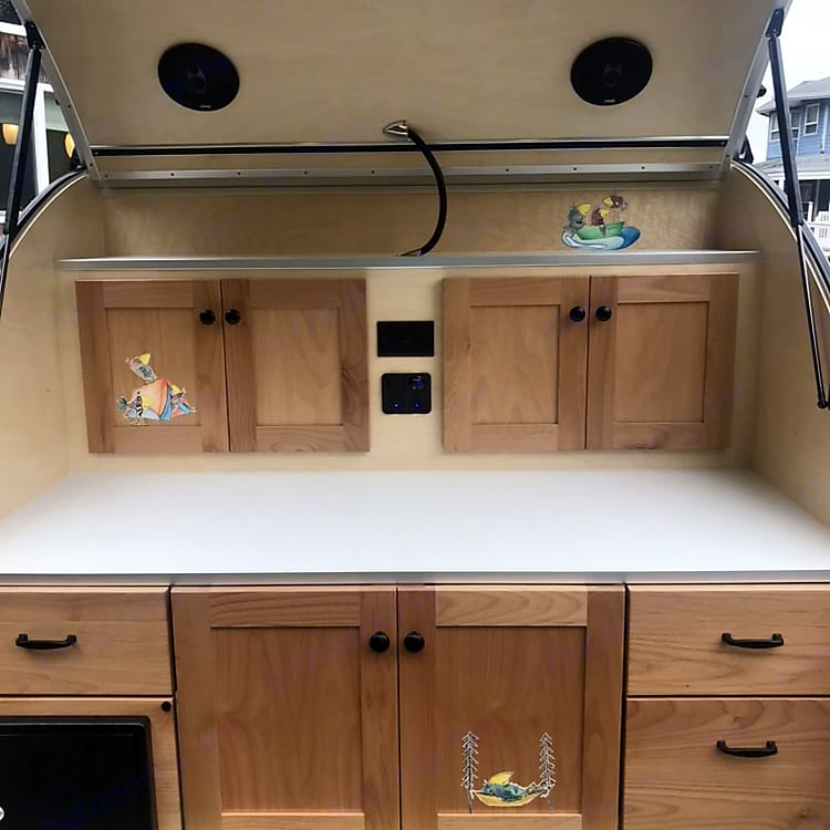 Light, bright, and full of personality, our galley is the perfect spot to cook and prep meals.